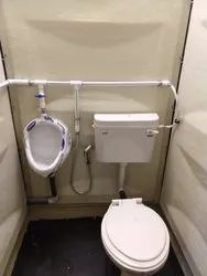 FRP Western Toilet Cabin with Urinal