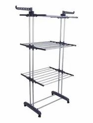 buyer Heavy Duty Double Pole Cloth Drying Stand 1101