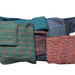 44-45 Inch Cotton Jacquard Checked Fabric, GSM: 150-200