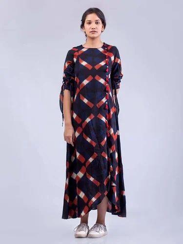 da5955d90f17 Cotton Block Printed Evening Dress, ईवनिंग ड्रेस - J. C ...