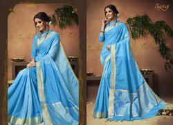 Stylish Blue Ethnic  Degsiner Sarees