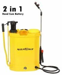 Agri Plastic Battery Powered Knapsack Sprayer, Capacity: 16 liters