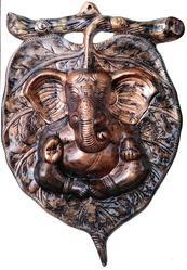 Ganesha Wall Hanging In Metallic Color