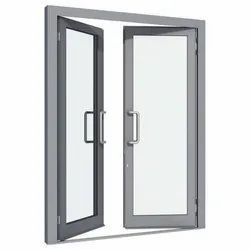 Gray(Frame) Powder Coated Hinged Aluminium Window, For Home,Office, Double Door