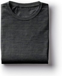 Half Sleeve Girls Plain Charcoal T Shirt