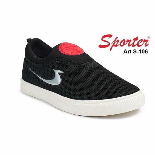 Sporter Men/Boys Black S-106 Loafers