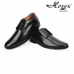 horex Men's Black Luxury Shoes In Leather Sole