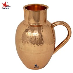 Red Nutristar Copper Water Jug Apple Shape, For Home, Capacity: 1500 ml