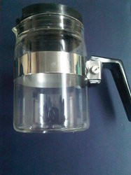 White 2 Cup Coffee Carafe