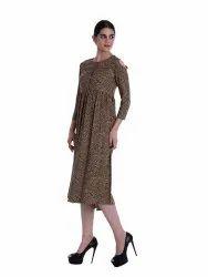 Printed High Waist Dress