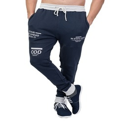 Male Navy Men Cotton Track Pants