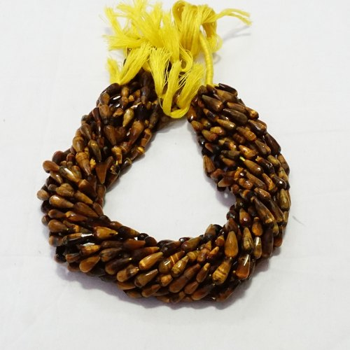 Tiger Eye Tear Drops Faceted Beads