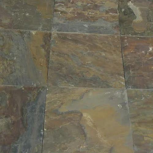 Rustic Gold Slate Stone 1 Inch