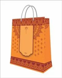 Kraft Paper Designer Printed Wedding Bag, for Shopping, Capacity: 1kg