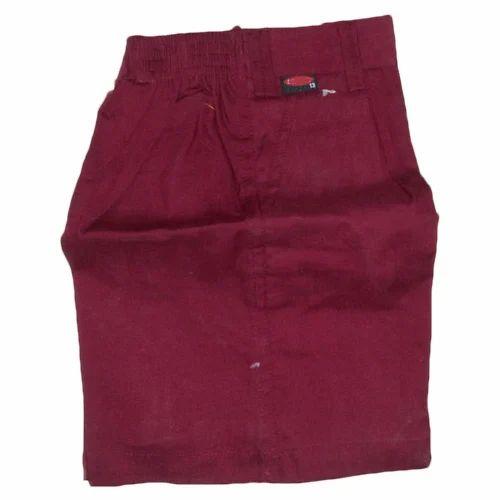 362f5ecee Maroon Cotton School Uniform Half Pants, Rs 80 /piece, Ashwini ...