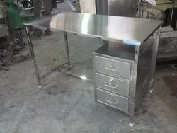 Stainless Steel Table With 3 Drawer