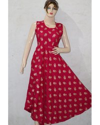 Red Ghera Frock