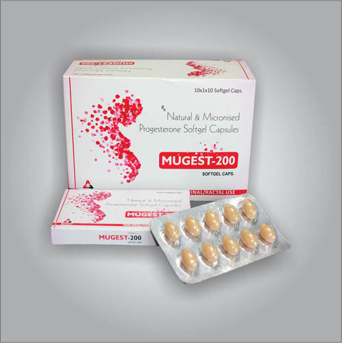 Natural Micronised Progestrone 200mg Capsules, for Hospital, 10*1*10