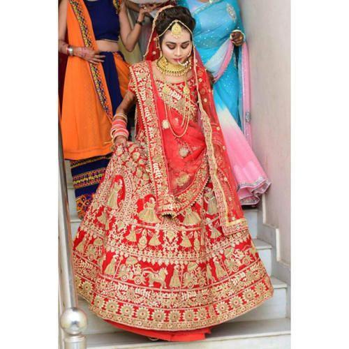 d6cf568732bf Red Velvet Bridal Lehenga Online On Rent, Rs 11000 /piece, Shahi ...