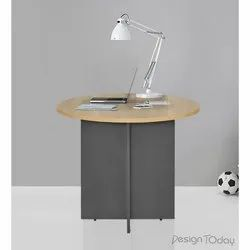 Design Today Brown,Black Wooden Round Table