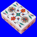 Super White Marble Inlay Work Jewelry Box