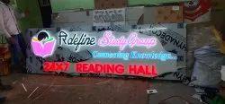 solid acrylic latter epoxy sign bord