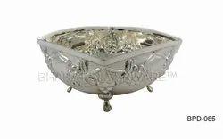 Pure Silver Handmade Square Shape Bowl