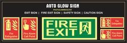 Auto Glow Safety Sign