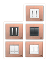 8 Module Brush Copper horizontal Modular Switch Plate