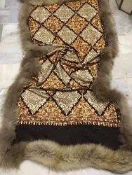Embroidered Border Woolen  Shawl