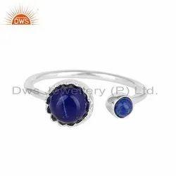 Lapis Lazuli Gemstone Designer Sterling Fine Silver Rings