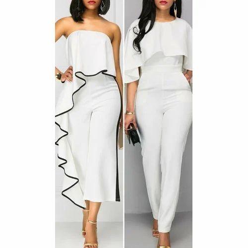 defbc9a4825a Ladies White Fancy Jumpsuit