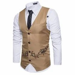 Formal Black Men Party Wear Jacket / Waist Coat