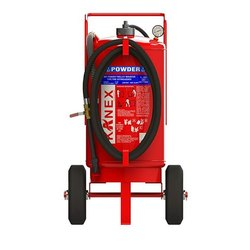 Red Mild Steel Kanex Dry Chemical Powder Trolley Mounted Fire Extinguishers, For Industrial, Capacity: 25 Kg