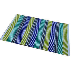 Chenille Carpet Striped Rug Cotton Chenille Rug Soft Area Rug, Size: 3 X 5 Feet