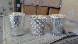 Silver Designer Mercury Votive Glasses