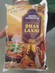 Dhan Laxmi 1 Ltr Soyabin Oil Pouch