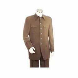 Brown Plain Men's Safari Suit