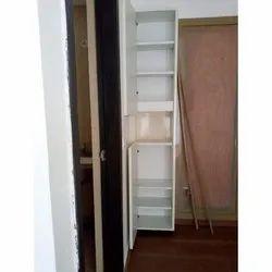 White Rectangular Wooden Corner Shelf, 7, Size: 7x2x2 Feet