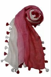 AMBITION SCARVES Female AS-6898 - 100% LINEN SHADED SCARF