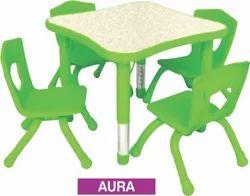 PP Moulded Edge Adjustable Kids School Furniture