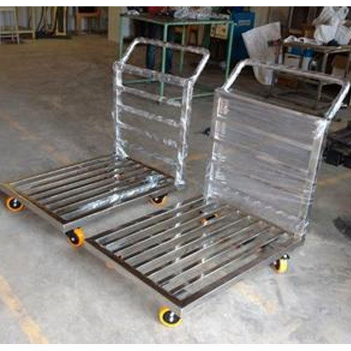 Luggage Trolley Four-Wheel Stainless Steel Utility Trolley