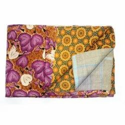 Vintage Indian Super Fine Kantha Quilt Handmade Cotton Blanket