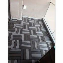 Wood Plastic Composite Tiles, Size: 1 Ft X 1 Ft