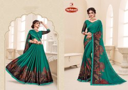Rangoli Printed Saree with Lace - Rocky