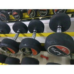 Round Fixed Weight Workout Dumbbell, For Gym