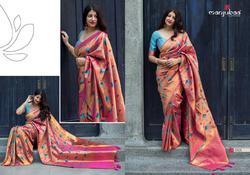 Manjubaa Moukthika Silk Series 1301-1310 Stylish Party Wear Kanjivaram Silk Saree