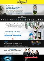 syRotech SY-DF200T-MR Dynamic Face Recognition Access Controller Temperature Detection