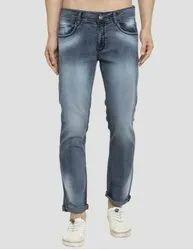 Slim Fit Green Denim Jeans Grey