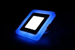 6W-3W Square 2 In 1 LED Color Panel Flat